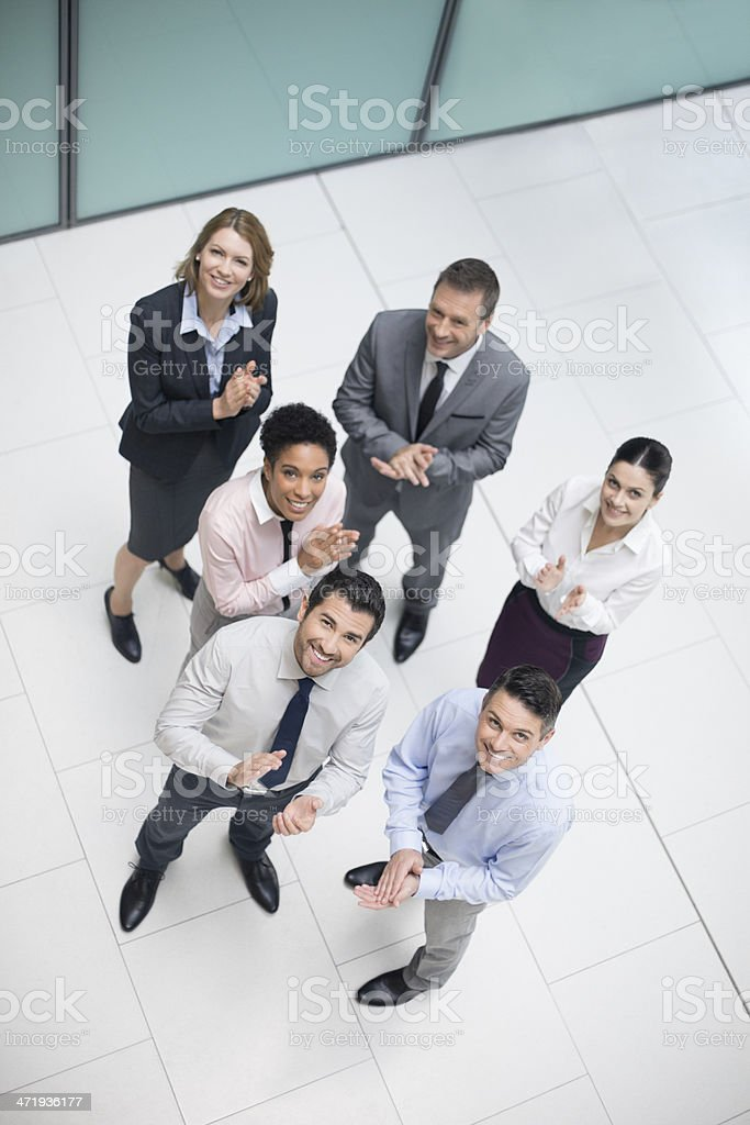 Happy on the results royalty-free stock photo