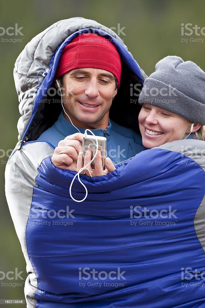 Happy Outdoor Couple royalty-free stock photo