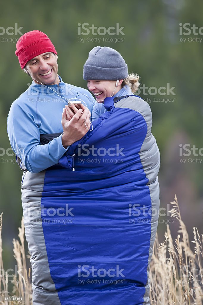 Happy Outdoor Couple royalty-free stock photo
