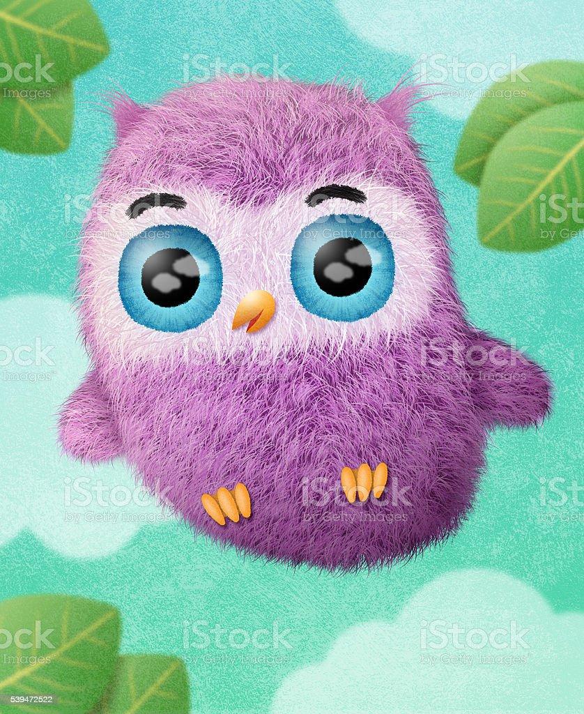 Happy Owl stock photo