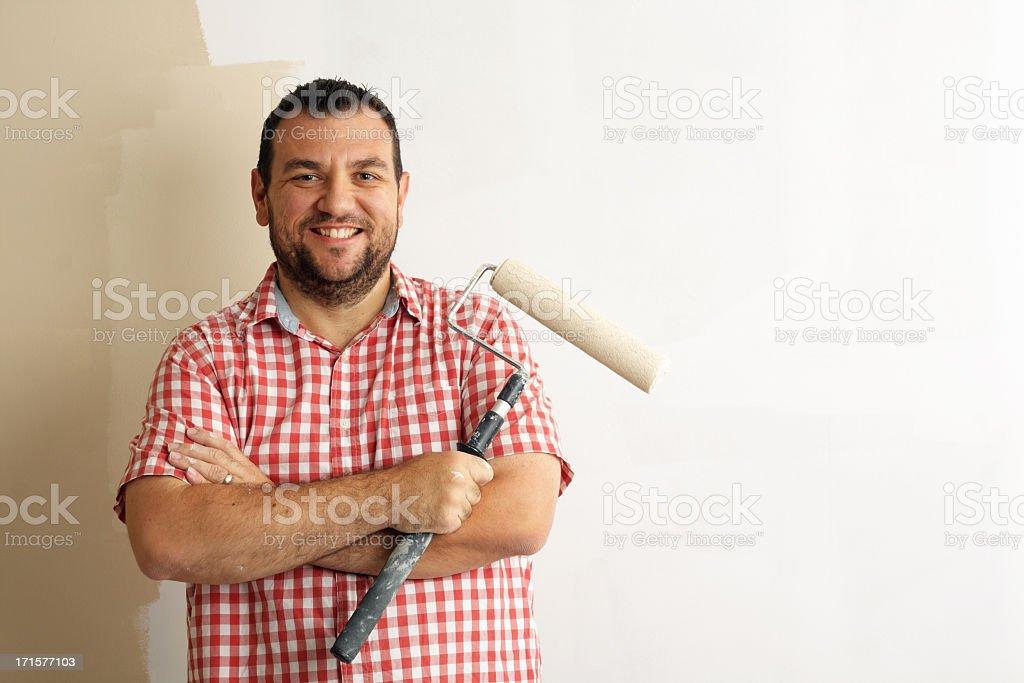 Happy Painter stock photo