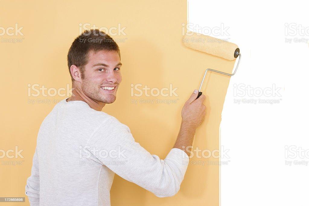 Happy Painter royalty-free stock photo