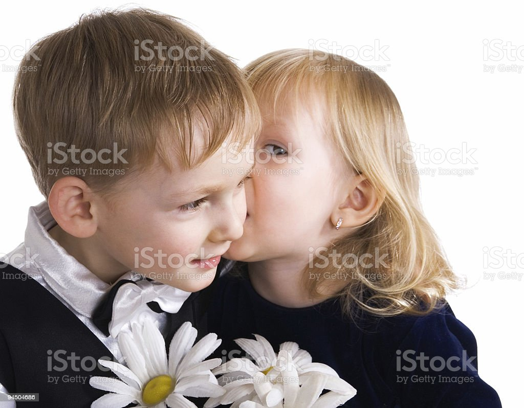 Happy pair royalty-free stock photo