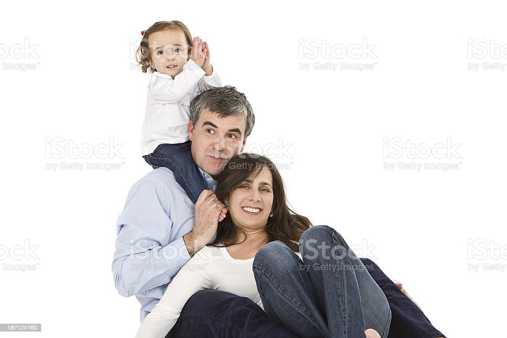 Happy parenting royalty-free stock photo