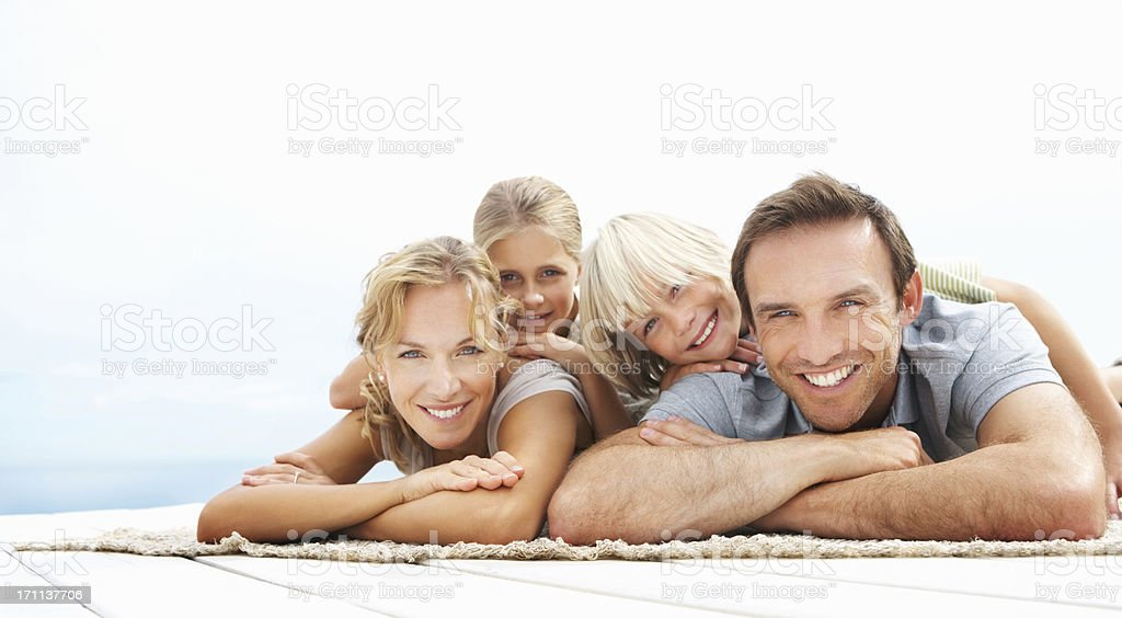 Happy parents having fun with their children royalty-free stock photo