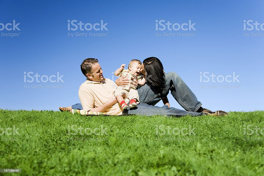 Happy Parents with Baby royalty-free stock photo