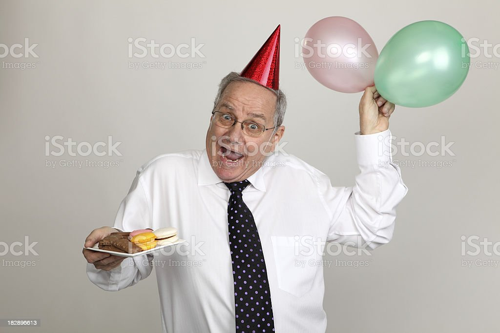 Happy Party Businessman royalty-free stock photo