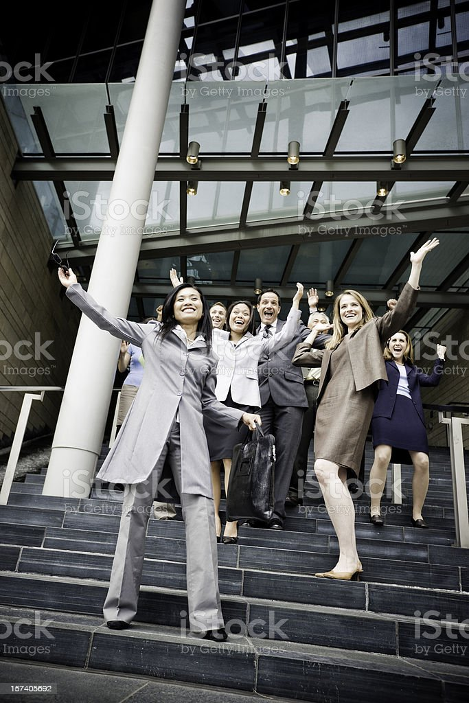 Happy Partying Business People Group royalty-free stock photo