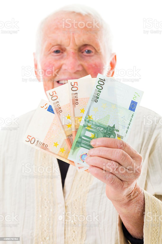 Happy pension payment day stock photo