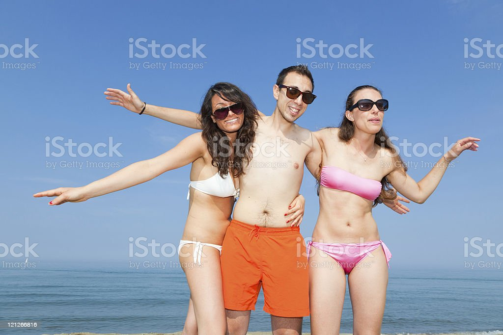 Happy People at Seaside stock photo