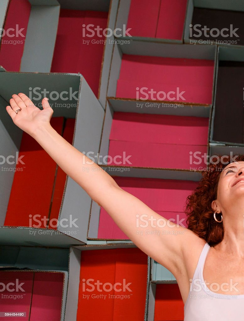 happy person-mindfulness stock photo