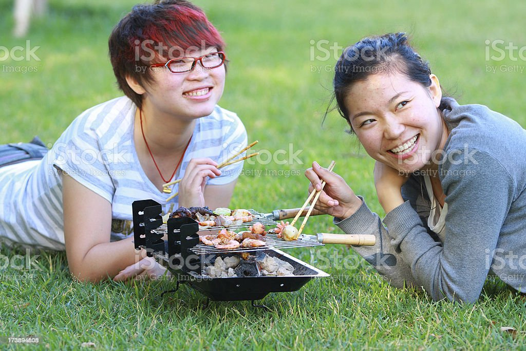 happy Picnic royalty-free stock photo