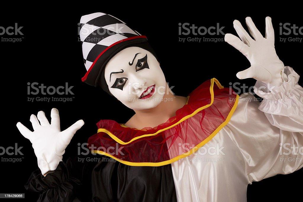 Happy Pierrot royalty-free stock photo