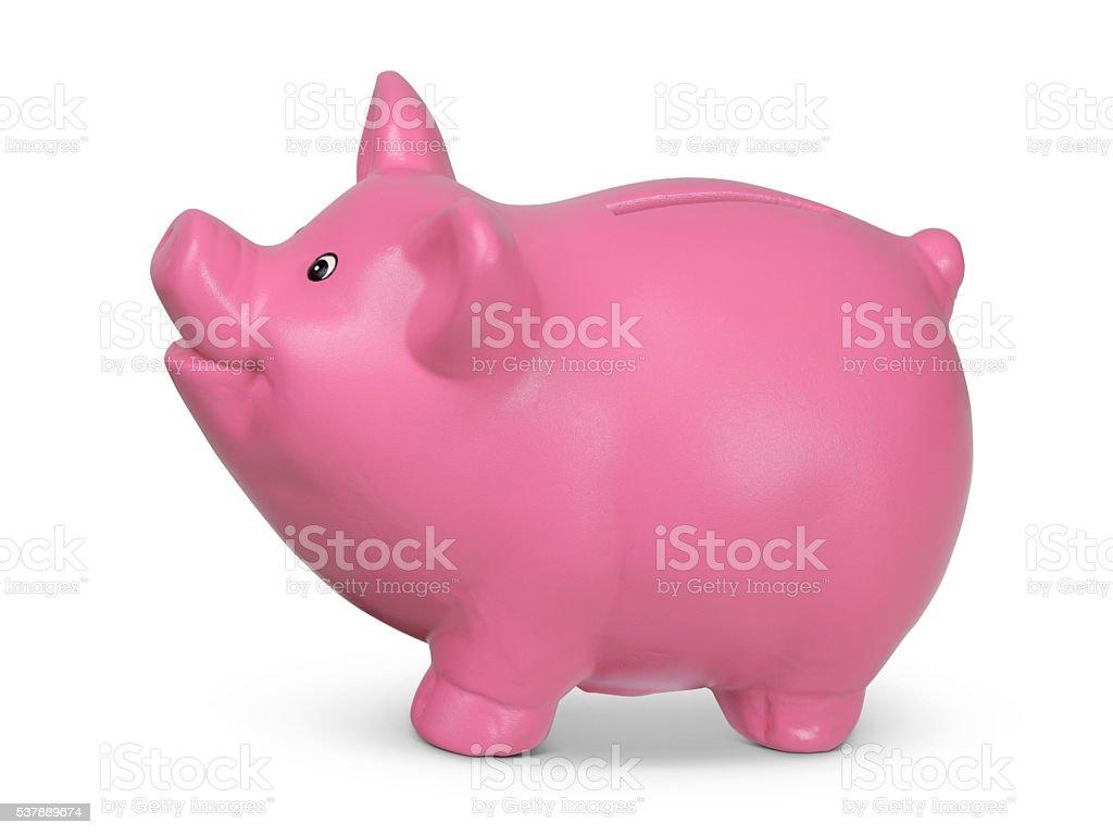 Happy Piggy Bank stock photo