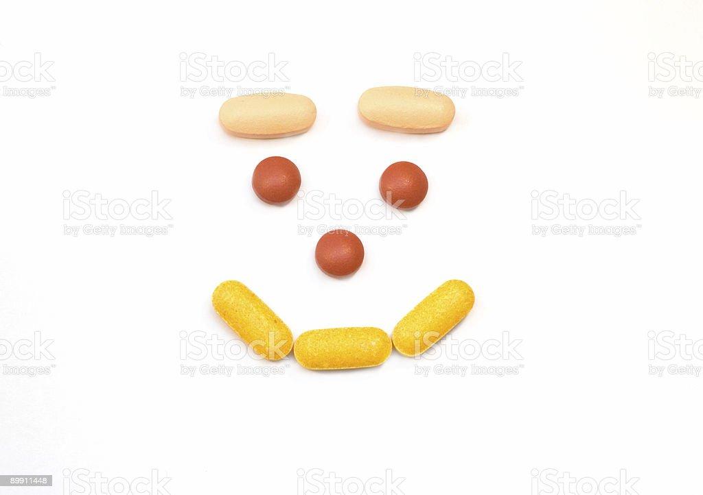 Happy Pills royalty-free stock photo