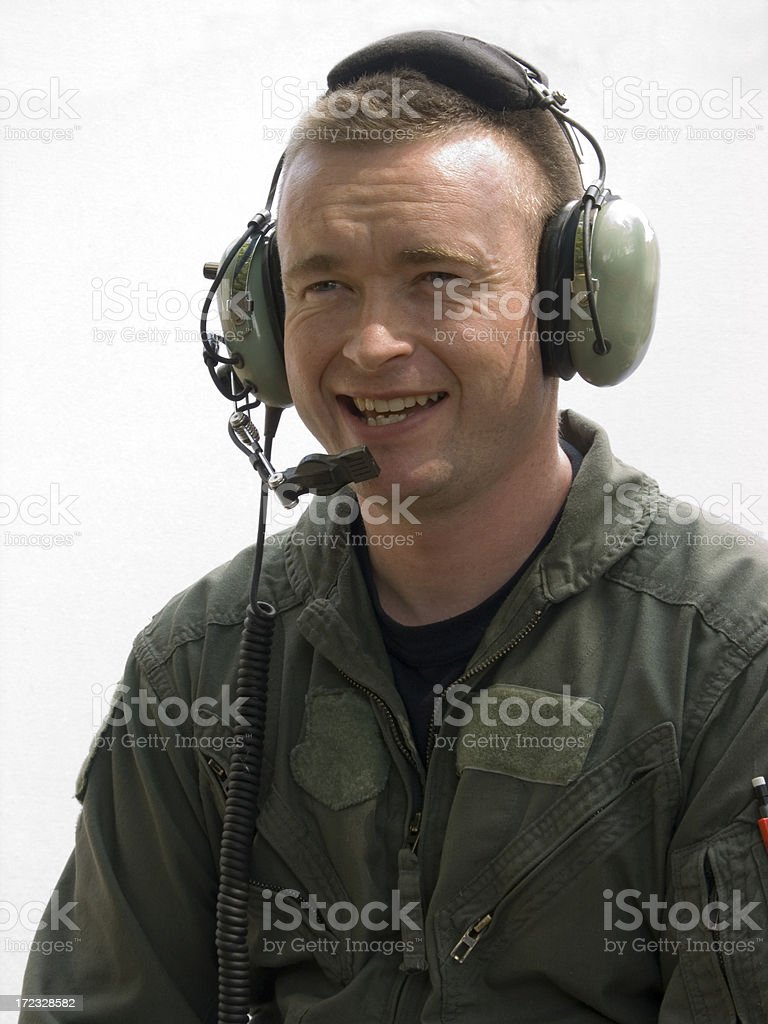 Happy Pilot stock photo