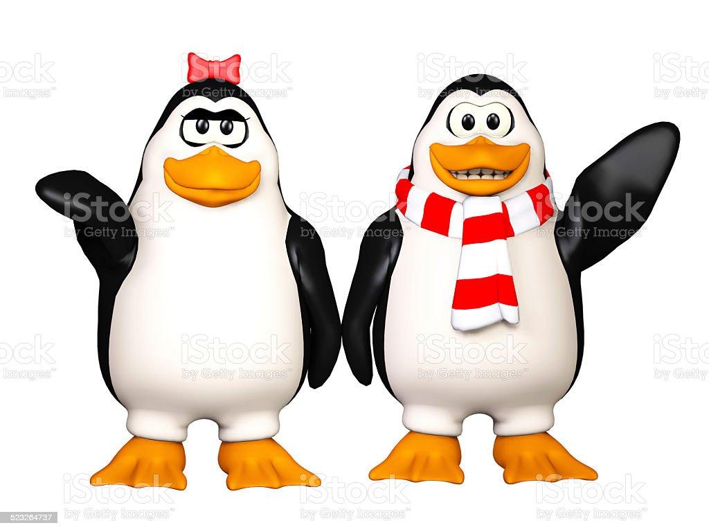 happy pinguins stock photo