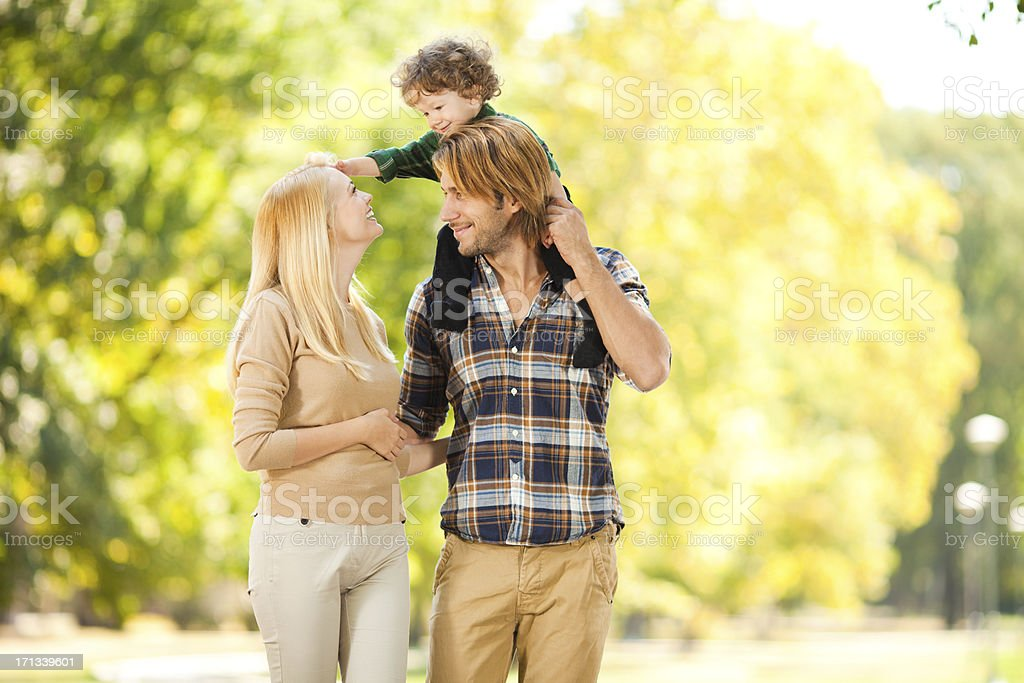 Happy playful family stock photo
