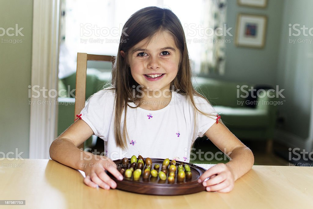 Happy playing board games royalty-free stock photo