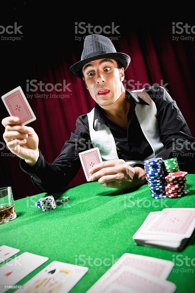 Happy poker player royalty-free stock photo