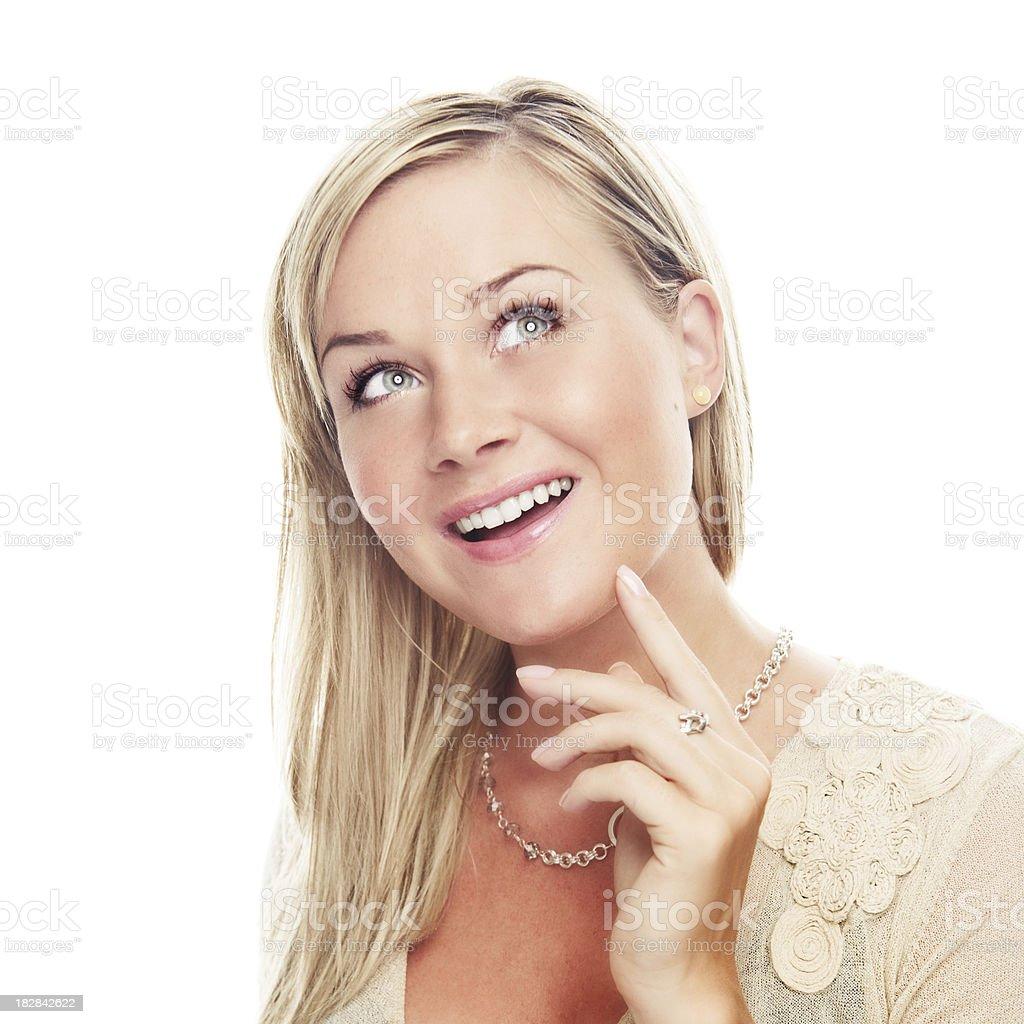 happy portrait of woman royalty-free stock photo