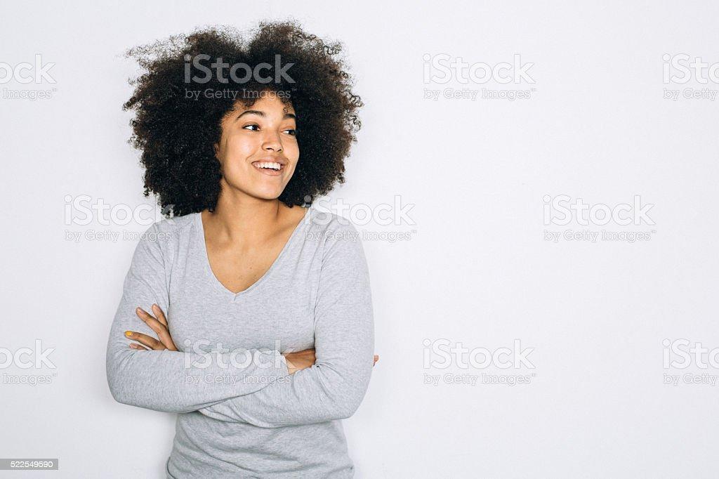 Happy portrait stock photo