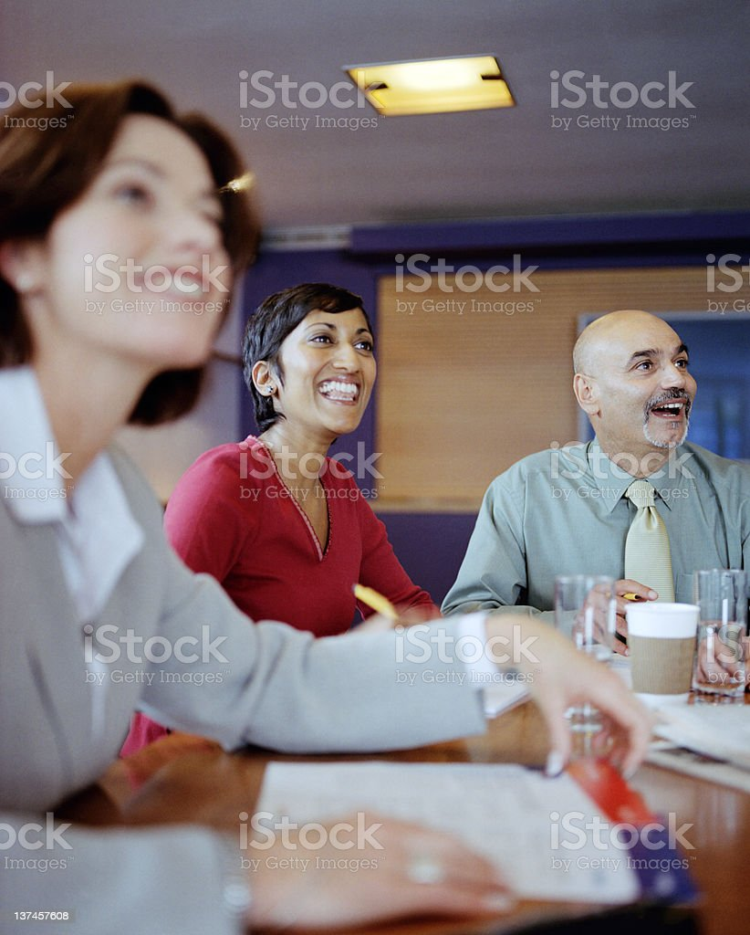 Happy Positive Business royalty-free stock photo