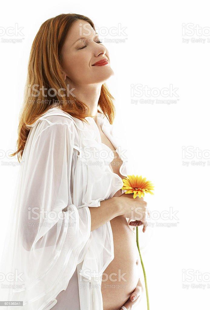 happy pregnant lady stock photo
