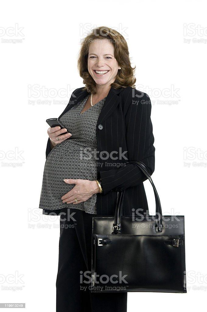 Feliz mujer embarazada foto de stock libre de derechos