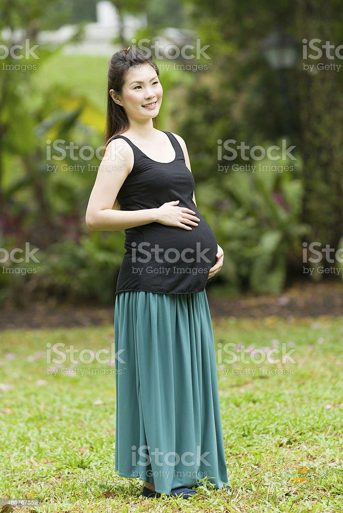 Happy Pregnant Woman royalty-free stock photo
