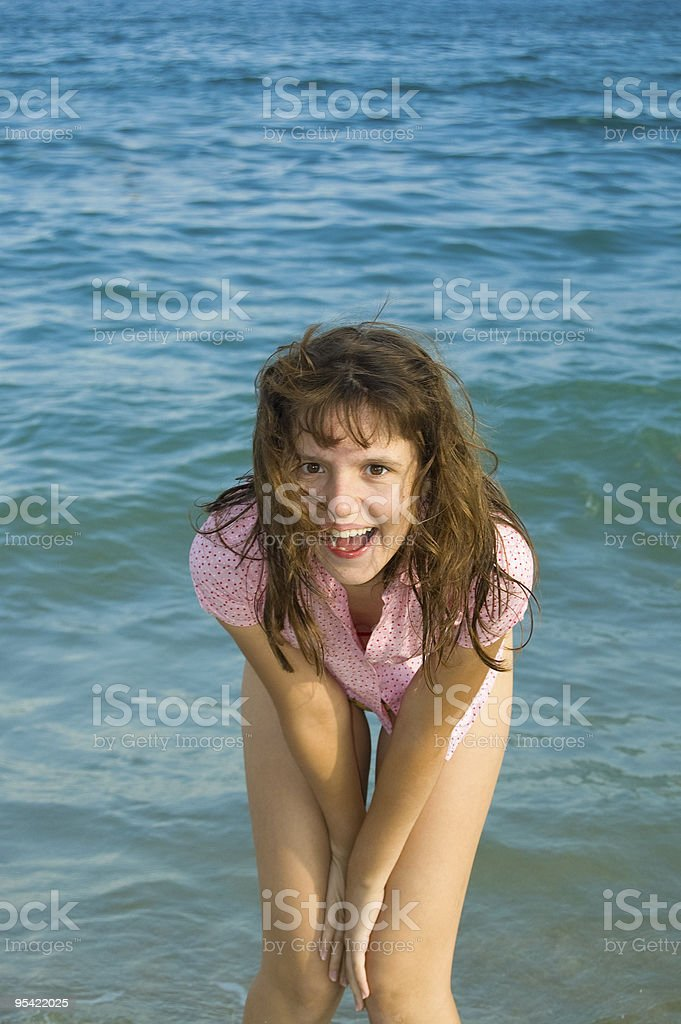 happy pretty girl royalty-free stock photo