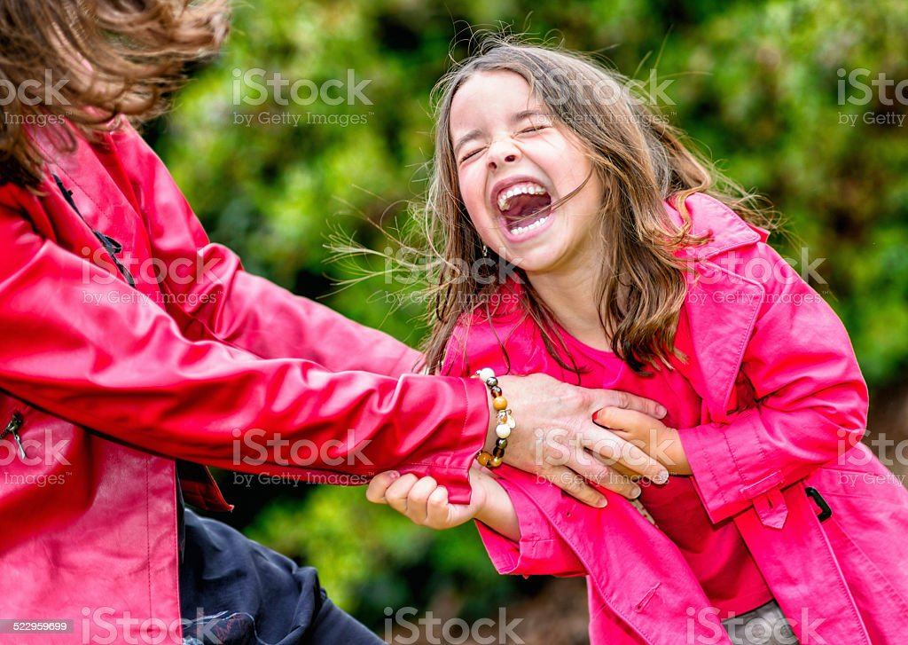 happy pretty little girl playing with her mother royalty-free stock photo
