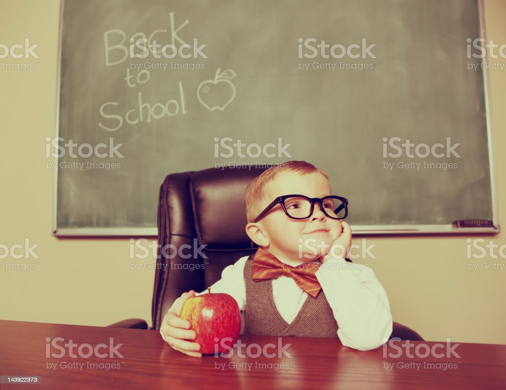 Happy Professor royalty-free stock photo