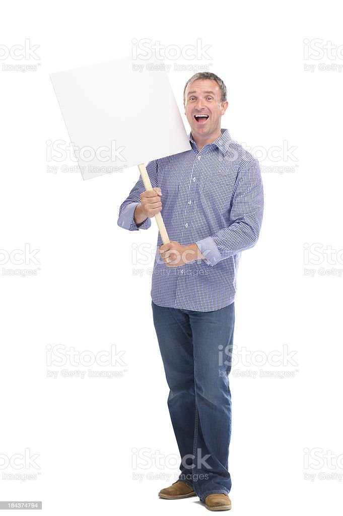 happy protester royalty-free stock photo