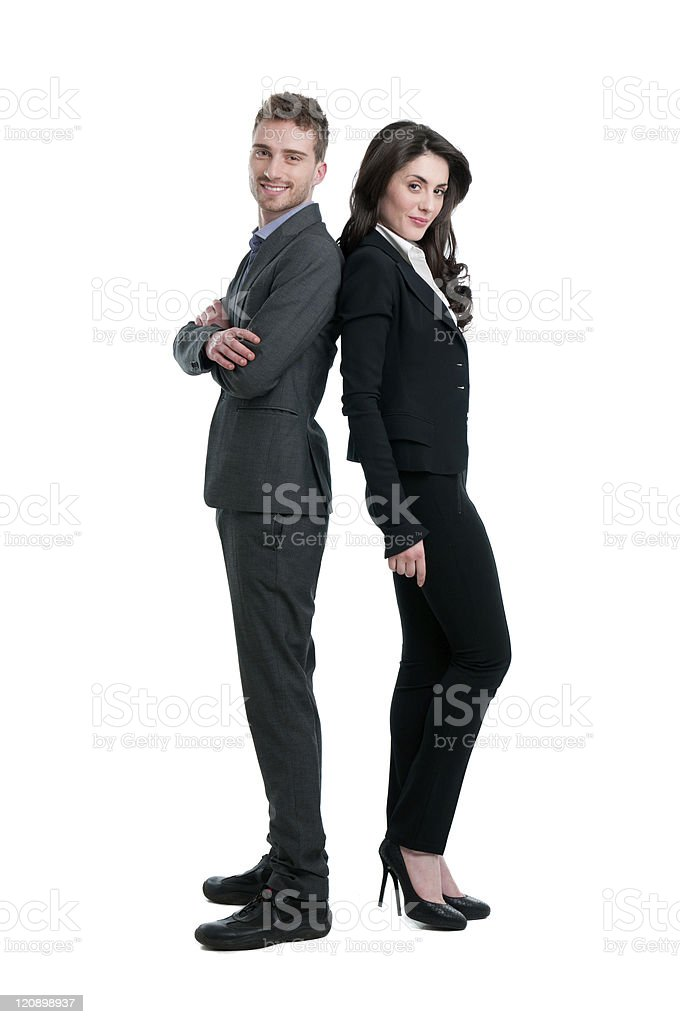 Happy proud business team royalty-free stock photo