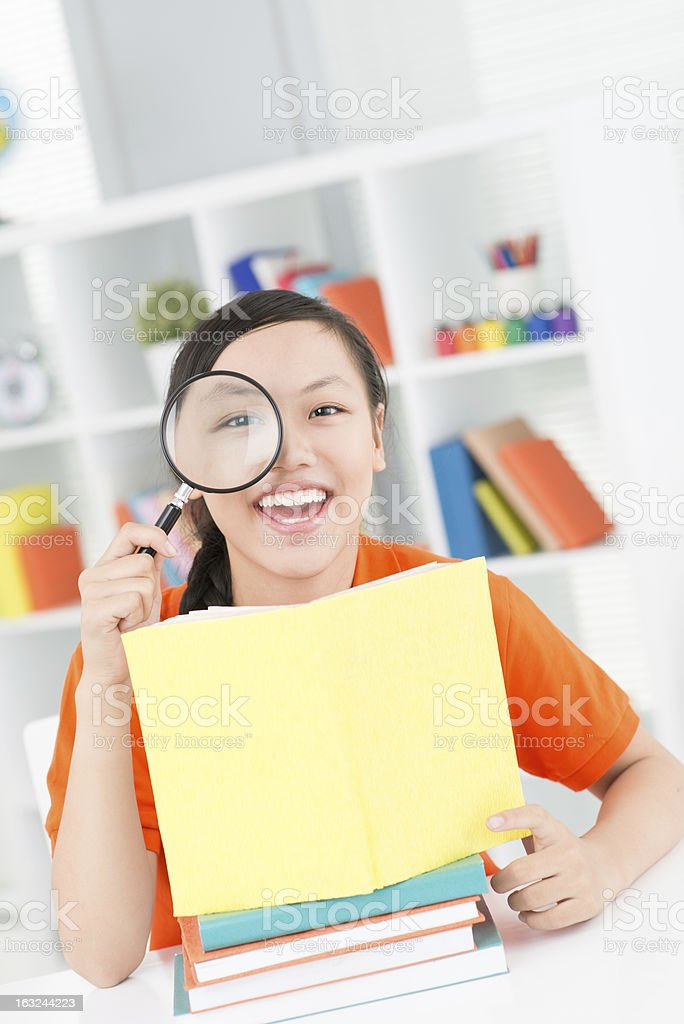 Happy pupil royalty-free stock photo