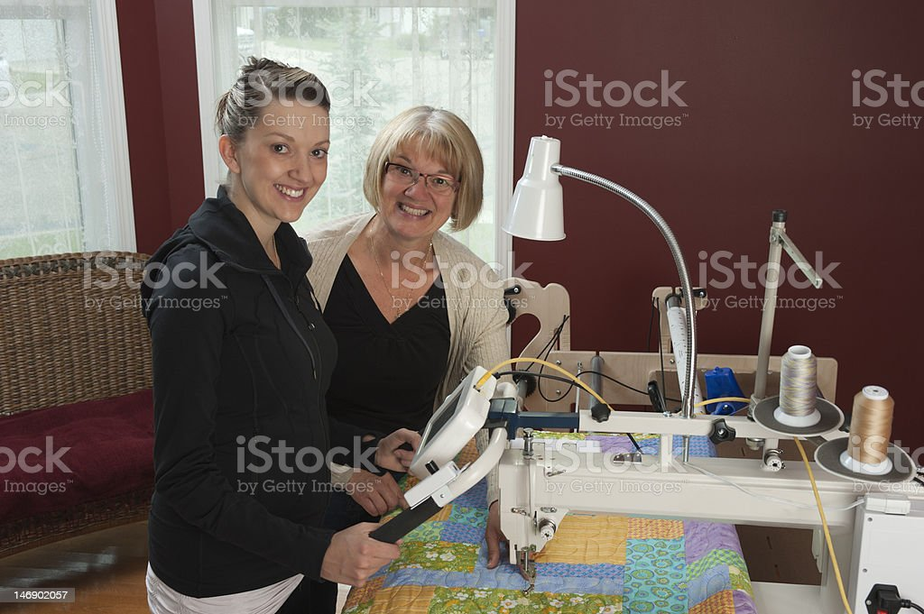 Happy Quilters royalty-free stock photo