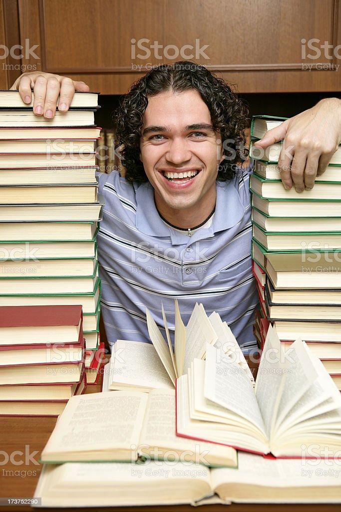 Happy reader royalty-free stock photo