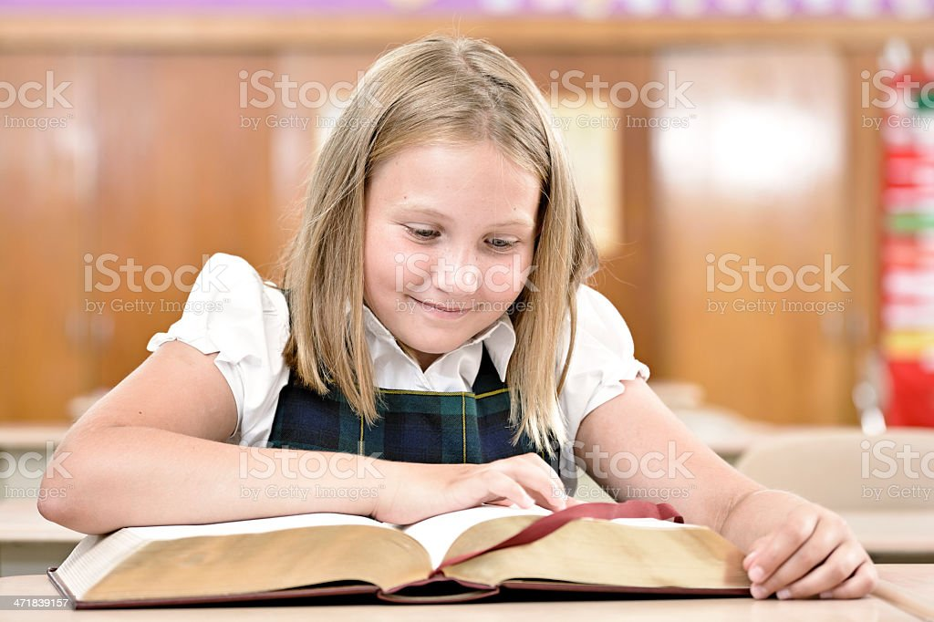 Happy reader royalty-free stock photo