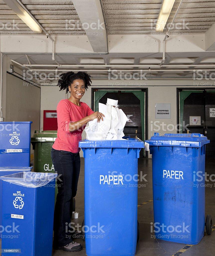 happy recycling! royalty-free stock photo