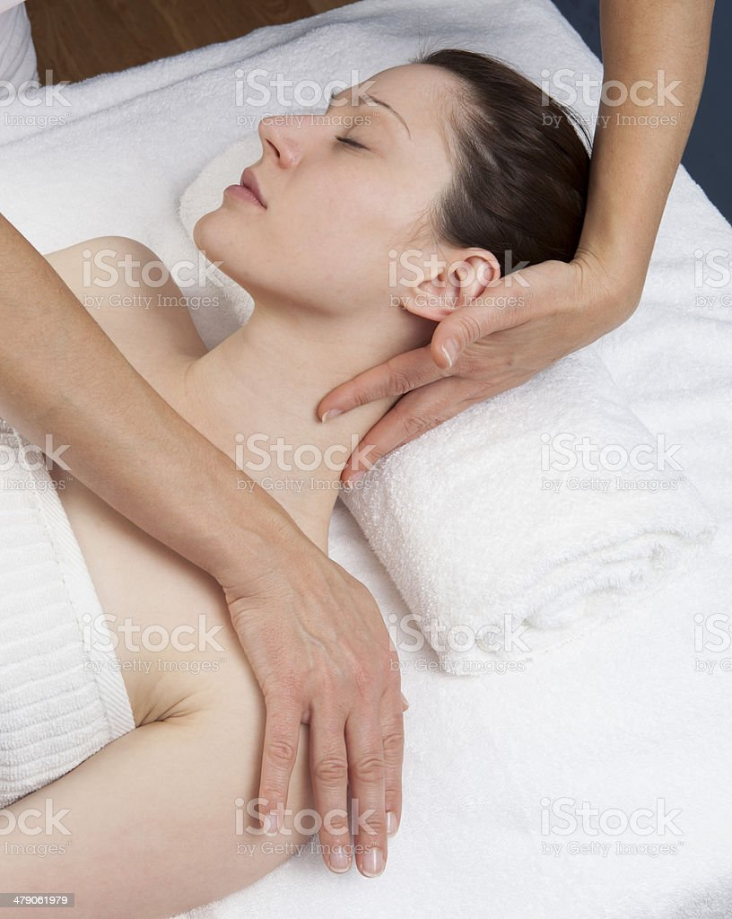 happy relieving massage royalty-free stock photo
