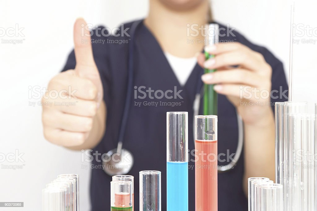 happy researcher royalty-free stock photo