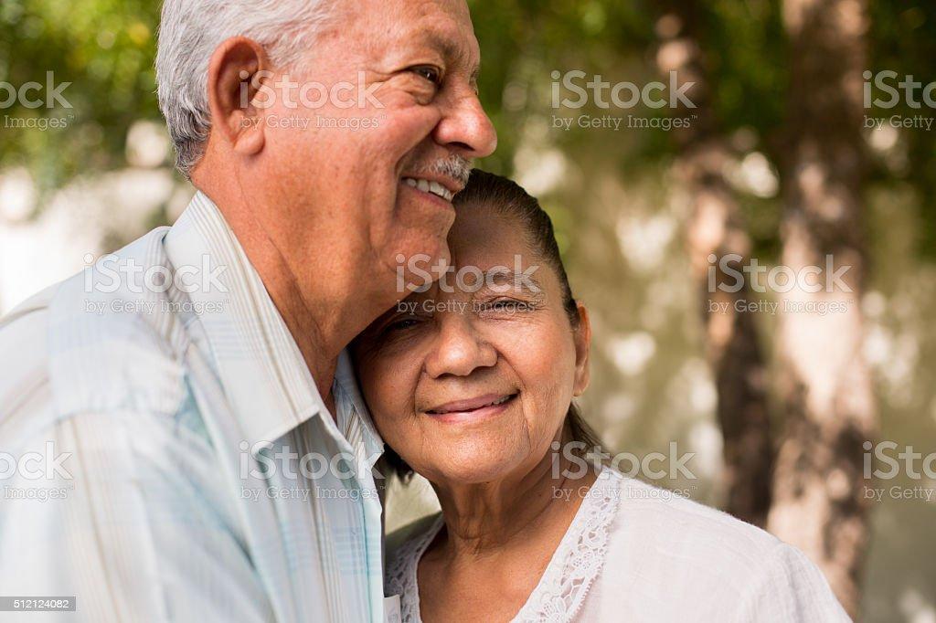 Happy retired couple stock photo