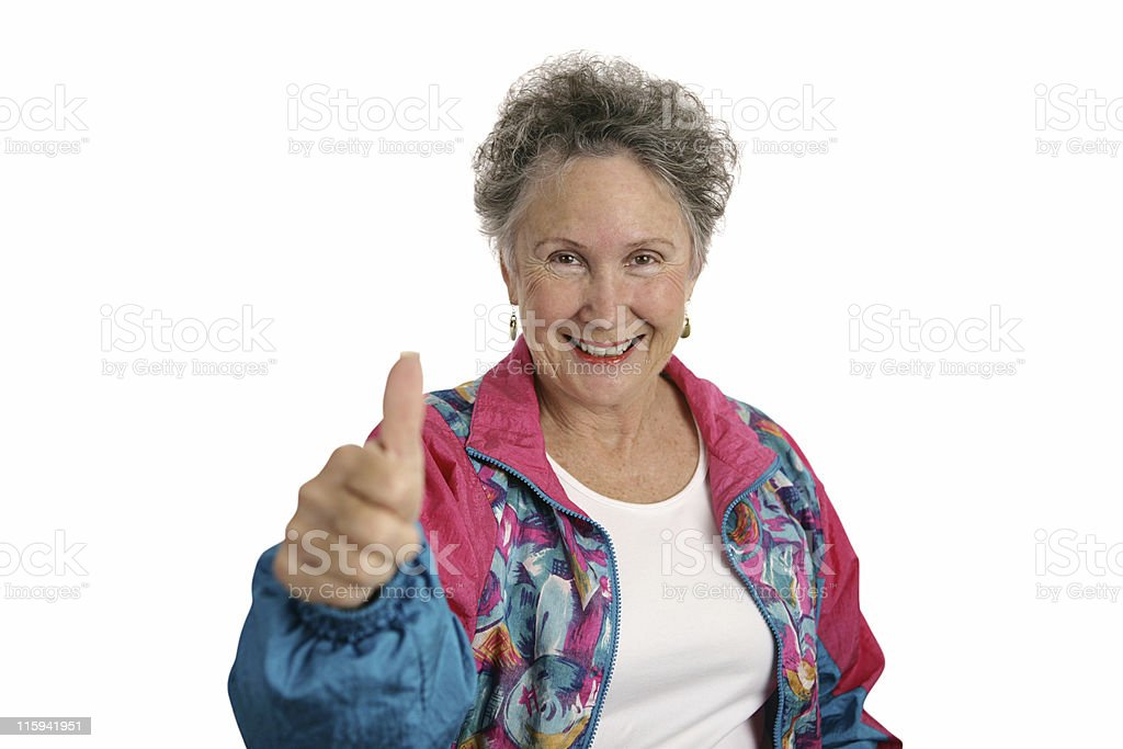 Happy Retiree Thumbsup royalty-free stock photo