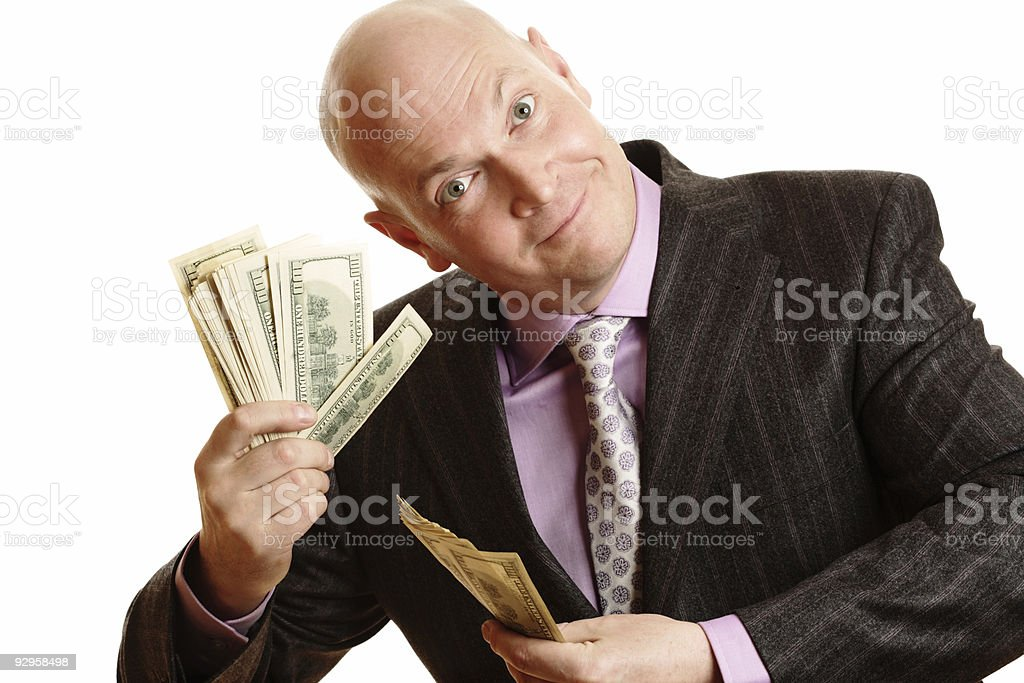 Happy Rich Businessman royalty-free stock photo
