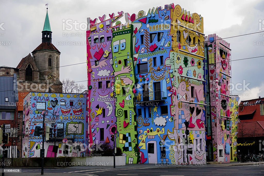 Happy Rizzi House in Braunschweig stock photo