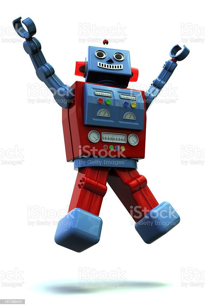 Happy Robot stock photo