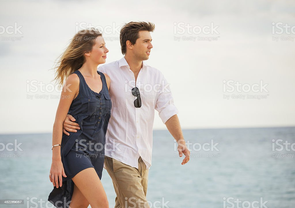 Happy romantic couple stock photo