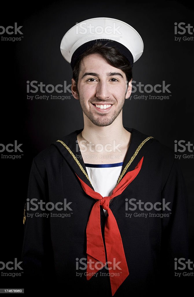 Happy sailor royalty-free stock photo