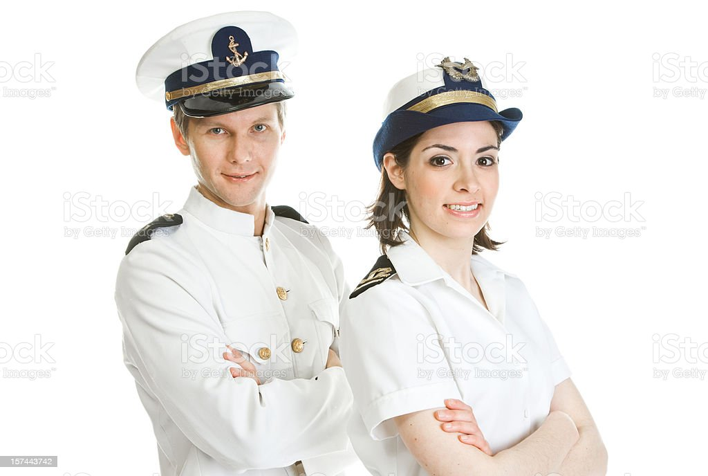 Happy sailors royalty-free stock photo